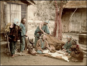 1873 Japanese Leather Workers (burakumin)