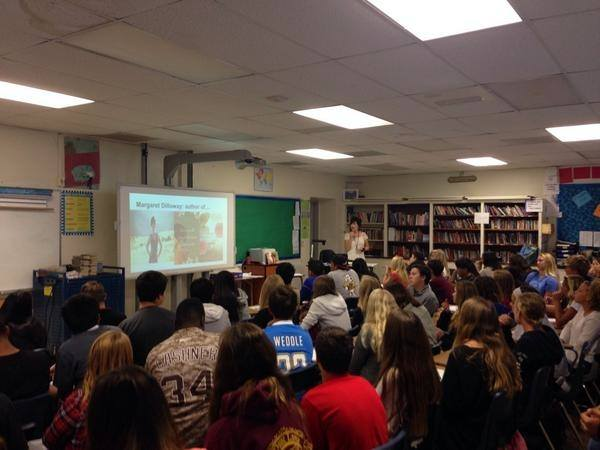 Margaret teaching novel structure at Point Loma High